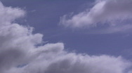 Slow moving clouds timelapse Stock Footage