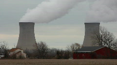 Nuclear Cooling Towers - stock footage