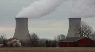 Stock Video Footage of Nuclear Cooling Towers