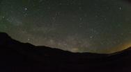 Milkyway Death Valley Timelapse Stock Footage