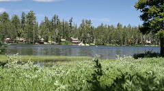 summer cabins, Wrights Lake, Sierra Nevada - stock footage