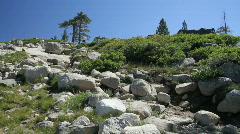 Hikers in mountains, Sierra Nevada  Stock Footage