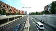 Barcelona traffic transport vehicles rush hour urban city  Stock Footage