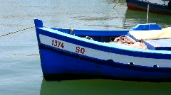 Boats in harbour Stock Footage