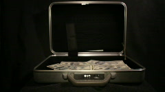 Steel Case with money Stock Footage