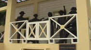 Stock Video Footage of Puerto Rico - Monument to Country Singers (Trovadores) Puerto Rico
