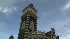Dunedin Railway Station Stock Footage
