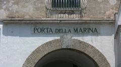 Italy - Amalfi - Porta della Marina Stock Footage