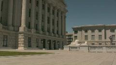 Salt Lake City Capital Building 2 Stock Footage