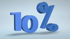 Percentage Text in Motion: 10, 15 Stock Footage