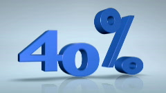 Percentage Text in Motion: 40, 45 Stock Footage