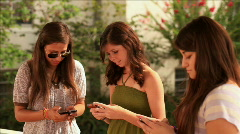teen girls texting - stock footage