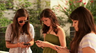 Stock Video Footage of teen girls texting