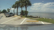 Tropical Parking Lot Rest Stop Stock Footage