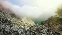 The Ijen crater. Stock Footage