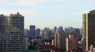 Shanghai yan an xi road day to night timelapse Stock Footage