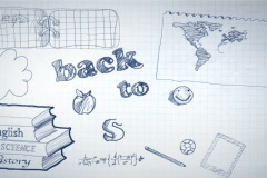 Back to School Scribbling Animation NTSC Stock Footage