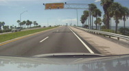 Stock Video Footage of Sunshine Skyway In The Distance