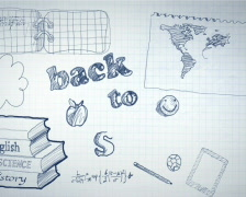 Back to School Scribbling Animation PAL Stock Footage