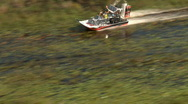 Aerial 3 Airboat Chase Stock Footage