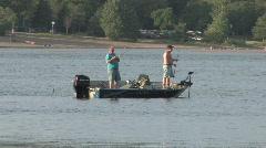 Men fishing Stock Footage