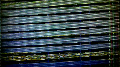 Video television static distortion broadcast fuzzy vcr Stock Footage