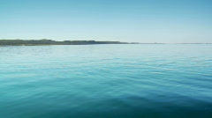 Moreton Bay with North Stradbroke Island in Background - From Boat Stock Footage