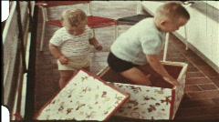 Jack-in-the-box (vintage 8 mm amateur film) Stock Footage