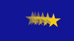 European Union Flag - Spinning Stars stop - Banner - Background Stock Footage