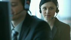 Call Center2 Stock Footage