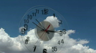 Stock Video Footage of Clock Flies Time Lapse
