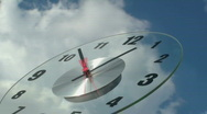 Stock Video Footage of Cloud Clock Time Lapse
