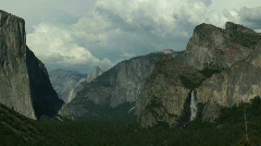 Yosemite Valley Half Dome Bridalveil Falls Stock Footage