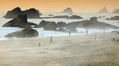 Fog rolling in at the beach 2-HD Stock Footage