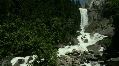 Stock Video Footage of Vernal Falls Part 1