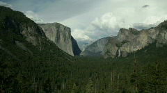 Yosemite Valley Wide Pan Stock Footage