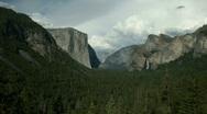 Yosemite Valley Wide Pan Stock Footage