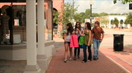 Teens walking and shopping Stock Footage