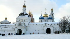Sergievposad cathedral, castle - HD 1920 X 1080 Stock Footage