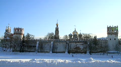 Novodevichy Monastery Castle in Moscow - HD 1920 X 1080 Stock Footage
