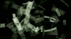 Money animation,Created with hundreds,tens and one dollar bills,bonds,securities Stock Footage