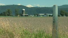 Canadian American Border Farm Stock Footage