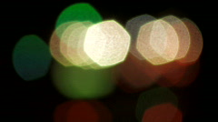 Distant Traffic Lights Out of Focus Stock Footage
