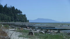 Crescent Beach, White Rock, Surrey, Vancouver area, Canada Stock Footage