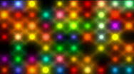 Color neon point matrix,nightclub bar disco led light in stage background. Stock Footage