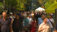 Time-lapse, crowd people walking in summer Stock Footage