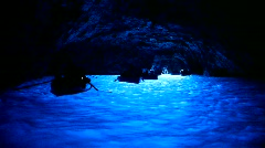 Blue Grotto (Capri, Italy) Stock Footage