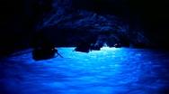Blue Grotto (Capri, Italy) Stock Footage