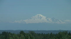 Mount Baker Volcano, Washington State as seen from Canada Stock Footage