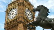 Stock Video Footage of Boadicea and Big Ben CU1